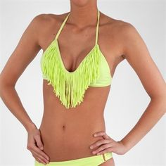L*Space Juniors Audrey Fringe Bikini Top #VonMaur #Swimwear #Fringe