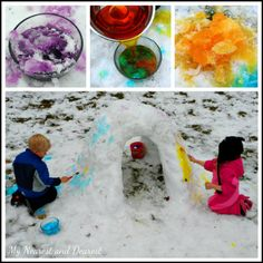 Colorful snow fort fun from My Nearest and Dearest