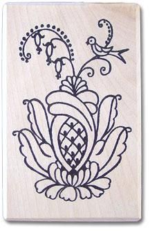 Kurbits 2 Rubber Stamp