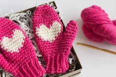 Instant Download Heart Mittens Crochet PATTERN for by TealandFinch