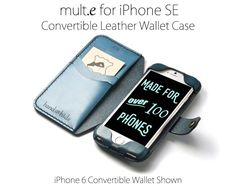 iPhone SE Convertible Leather Wallet Case - No Plastic - Free Inscription(Etsy のHANDandHIDEより) https://www.etsy.com/jp/listing/287580511/iphone-se-convertible-leather-wallet