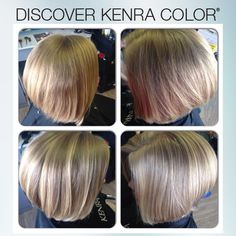 This look was created using our new Kenra Color® No Ammonia Lightener + 10 volume and 10SM + 30 volume in a Kenra Color class in Bremerton, WA.