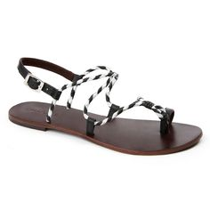 Jolie in Black & White Leather Sandals, Black And White, Journey, Shoes, Women, Fashion, Moda, Zapatos, Black N White