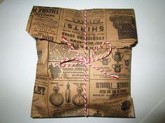 "100 Kraft News Print Paper Bags 9"" Tall x 6"" Wide  / Wedding Favor Bags / Birthday Bags / Gift Bags. $13,25, via Etsy."