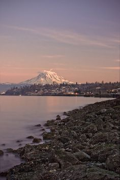 Mount Rainier from Tacoma | Washington (by NWunseen) I feel some ownership of this mountain that I was born near. I saw it every day of my first 20 years of life. So much sense of comfort & home when I see it.