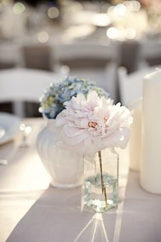 Vintage wedding inspiration - simple and beautiful wedding reception table setting