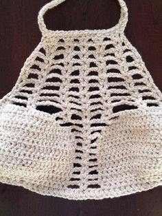 Crochet bikini Top Halter Bikini top by thatswhatshethreadX