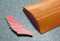 Polymer Clay Central - Donna Kato's Peach Feather Cane 2