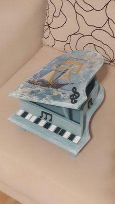 Ahşap boyama piano kutu