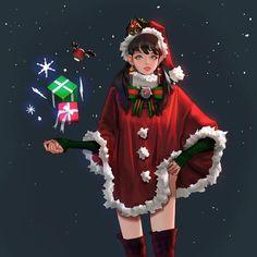 #Noël #Dessin lwbv2001 #Manga