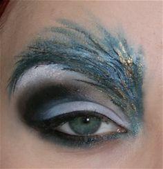 Peacock. crazy feathery eyebrows