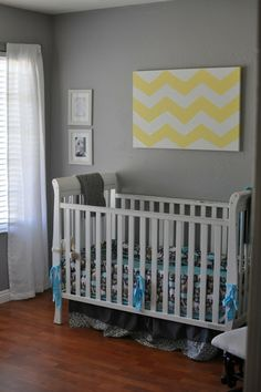 grey/chevron  - modern zoo nursery.
