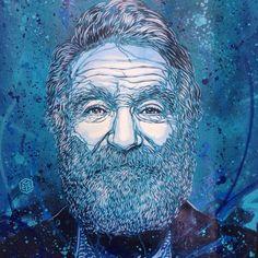 Robin Williams Tribute Street art by C215