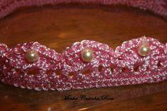 Coroa de princesa em crochê. Visite: minhacasinharosa.blogspot.com.br