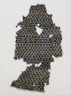 Sock; from V & A, Egypt, 1100-1300, cotton, hand knitted, worked toe to top