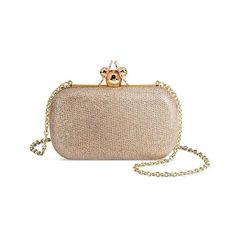 Estee & Lilly Women's Clutch Handbag ($40) ❤ liked on Polyvore featuring bags, handbags, clutches, gold purse, gold evening purse, gold metallic handbags, gold evening clutches and gold handbags
