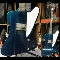 Gibson Custom ultra-aged 1963 Firebird I in candy blue http://guitarclass.org