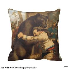 Wild West Wrestling Throw Pillows.  Great for the country man.