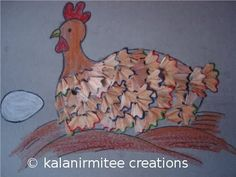 Texture turkey.  Cute!  Uses color pencil shavings.    From:  Recycle Craft · Lesson Plans   CraftGossip.com