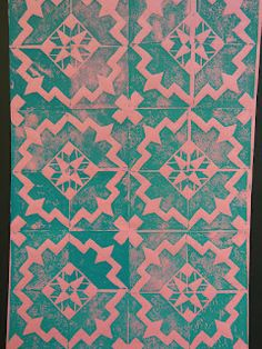 The Calvert Canvas: Adventures in Middle School Art!: Islamic Tile Design Printmaking