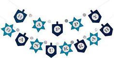 Happy Hanukkah Garland | PAPER SOURCE