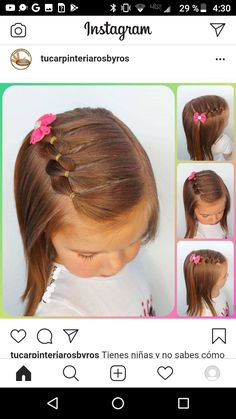 Easy Toddler Hairstyles, Easy Little Girl Hairstyles, Girls Hairdos, Lil Girl Hairstyles, Braided Hairstyles, Hair Creations, Hair Dos, Short Hair Styles, Nails