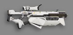 Sci-fi rifle, Lei Guo on ArtStation at https://www.artstation.com/artwork/gun-747033ca-3fc4-4531-b4c9-42f3c24f39ed