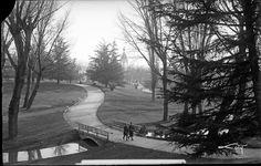 Madrid, vista parcial de los Jardines del Parque del Oeste, ca. 1930