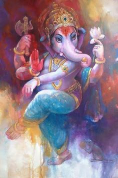 ★★ Follow - @Angel69X ★★ For Picture Of Beauty Of What You Can Imagine. Ganesha Drawing, Lord Ganesha Paintings, Lord Shiva Painting, Ganesha Art, Krishna Art, Buddha Drawing, Ganesh Idol, Shri Ganesh Images, Ganesha Pictures
