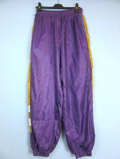 "VINTAGE RETRO purple SHELL TRACKSUIT BOTTOMS 80's 90's w34"" L32'' tb30"