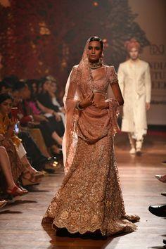 Tarun Tahiliani at India Couture Week 2019 - Page 7 Indian Bridal Lehenga, Indian Bridal Fashion, Indian Dresses, Indian Outfits, Ethnic Outfits, Pink Lehenga, Net Lehenga, Indian Aesthetic, Nikkah Dress