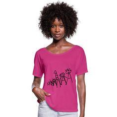 Andys Laden | Die Königsfamilie - Frauen T-Shirt mit Fledermausärmeln von Bella + Canvas T Shirt Designs, Design T Shirt, Shirt Diy, Dye T Shirt, Valentines Pregnancy Announcement, Fuchsia, Viscose Fabric, Hoodie Dress, How To Roll Sleeves