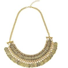 Yoins Gold Coin Bib Necklace (19.285 COP) ❤ liked on Polyvore featuring jewelry, necklaces, gold, gold necklace, coin jewellery, adjustable necklace, gold coin jewelry and gold jewelry