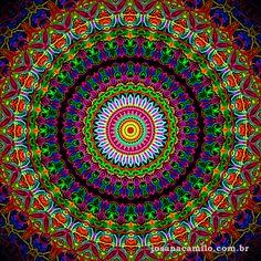 Oficina da Alma ® - Josana Camilo Mandala Art, Sacred Geometry Patterns, Moving Optical Illusions, Meditation, Cosmos, Illusion Art, Diamond Art, Button Crafts, Psychedelic Art