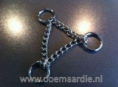 Half-check ketting / triangel ketting voor het maken van een hondenhalsband
