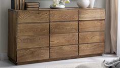 Dřevěná dubová komoda - Nábytek Mirek