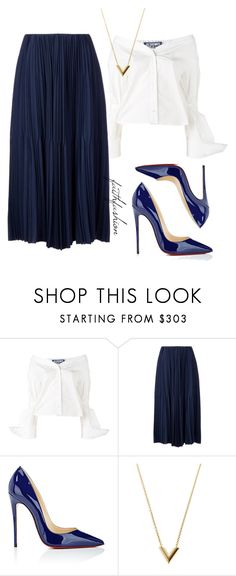"""""""Untitled #488"""" by faithfashionash on Polyvore featuring Jacquemus, Astraet, Christian Louboutin and Louis Vuitton"""