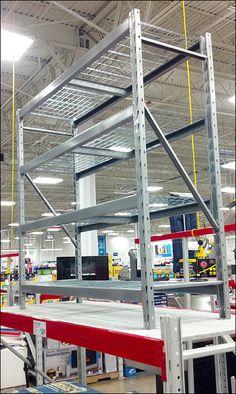 Zip Tie as Faulty Shelf Unit Safety Strap