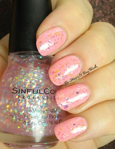 Sinful Colors Sinful Sunrise over Pink Break | Be Happy And Buy Polish http://behappyandbuypolish.com/2015/08/06/sinful-colors-a-class-act-nail-polishes-partial-collection/