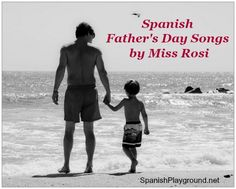 Spanish father's day songs for kids: Feliz día, Papá by Peruvian artist Miss Rosi. A gift he'll carry in his heart and on his phone - record them singing in Spanish. #Diadelpadre #FathersdaySpanish #Spanish kids songs http://spanishplayground.net/spanish-fathers-day-songs-miss-rosi/
