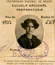 adreciclarte: Boletin de Calificaciones de Frida Kahlo, 1922, Escuela National Preparatoria
