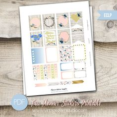 Country Planner Stickers | Free Printable