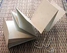 Here's a set of directions for making an easy fold book from a single sheet of paper.