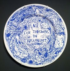Plate For Throwing in Arguments by Keaton Henson