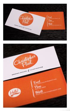 love the retro feel of the front of this business card