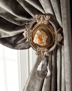 Each Paris Geode Curtain Tieback, Quartz - 6009 Parker