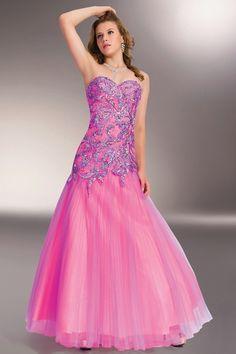 2014 Sweetheart Mermaid/Trumpet Dress Beaded Bodice Tulle Floor Length Beautiful USD 193.99 LDPDYTQYX1 - LovingDresses.com