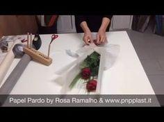 Cómo hacer bouquet de flores con cinco Rose - Craft Tutorial - YouTube