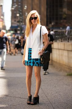 70 Next-Level NYFW Street-Style Snaps  #refinery29  http://www.refinery29.com/52992#slide-44  Oh, it's just superstar Joanna Hillman.