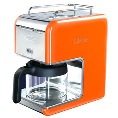 Love the vintage look of this.  DeLonghi K-Mix 5 Cup Drip Coffee Maker In Orange